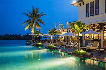 Swimming pool at Hoi An Beach Resort, Cua Dai beach, Hoi An, Quang Ham, Vietnam Stock Photo - Rights-Managed, Code: 862-07911096
