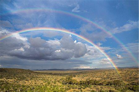 rainbow - Kenya, Laikipia County, Laikipia. A double rainbow. Stock Photo - Rights-Managed, Code: 862-08090839