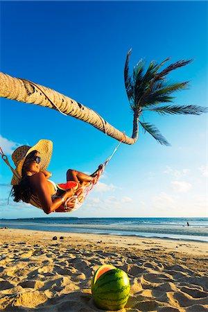 sandi model - South East Asia, Philippines, The Visayas, Cebu, Bantayan Island, Sugar Beach, girl relaxing on the beach (MR) Stock Photo - Rights-Managed, Code: 862-08091006