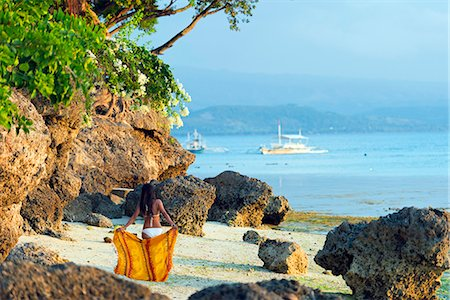 sandi model - South East Asia, Philippines, The Visayas, Cebu, Moalboal, a girl on Panagsama Beach (MR) Stock Photo - Rights-Managed, Code: 862-08091034
