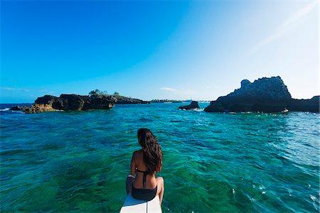 exotic outdoors - South East Asia, Philippines, The Visayas, Cebu, Malapascua island, girl aboard a catamaran, Stock Photo - Rights-Managed, Code: 862-08091031