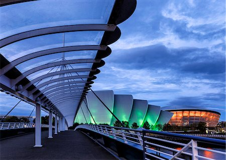 Europe, Scotland, Glasgow, Bell's Bridge, The Clyde Auditorium & The SSE Hydro Stock Photo - Rights-Managed, Code: 862-08091075