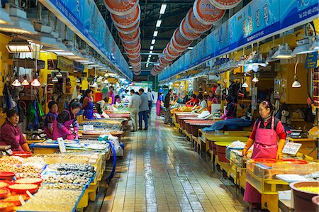 food stalls - Asia, Republic of Korea, South Korea, Incheon, Incheon fish market Stock Photo - Rights-Managed, Code: 862-08091114