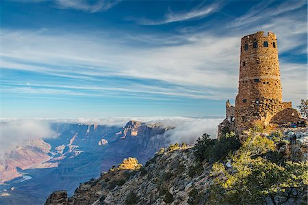 Desert View Watchtower, Grand Canyon National Park, Arizona, USA Fotografie stock - Rights-Managed, Codice: 862-08091445