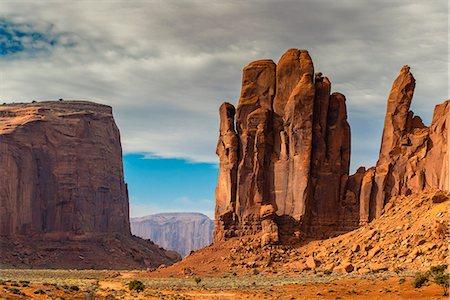 Scenic desert landscape, Monument Valley Navajo Tribal Park, Arizona, USA Stock Photo - Rights-Managed, Code: 862-08091456