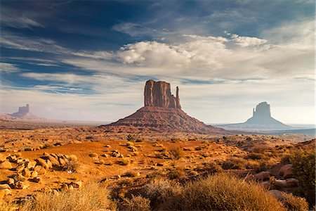 The Mittens, Monument Valley Navajo Tribal Park, Arizona, USA Stock Photo - Rights-Managed, Code: 862-08091453