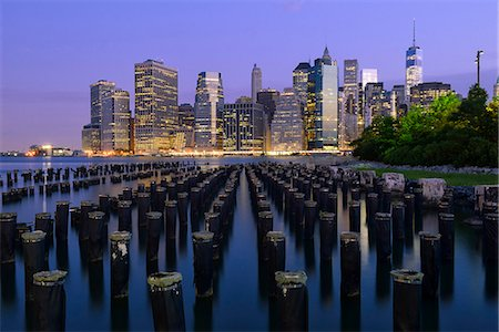 USA, New York, Brooklyn, view from Brooklyn to Manhattan in the morning Stock Photo - Rights-Managed, Code: 862-08091528