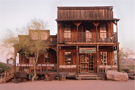 saloon - USA, Arizona, Phoenix, Goldfield Ghost Town, The Blue Nugget Gift Shop Stock Photo - Rights-Managed, Code: 862-08274052