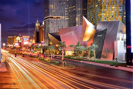 USA,Nevada,Las Vegas, The Las Vegas Strip at night near the city center development and New York New York Casino in the distance Stock Photo - Rights-Managed, Code: 862-08274106