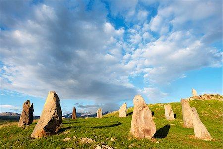 prehistoric - Eurasia, Caucasus region, Armenia, Syunik province, Karahunj Zorats Karer, prehistoric archaeological 'stonehenge' site Stock Photo - Rights-Managed, Code: 862-08272885