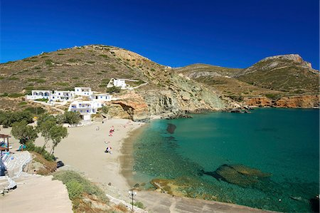 Angali beach, Folegandros, Cyclades, Greece Stock Photo - Rights-Managed, Code: 862-08273201