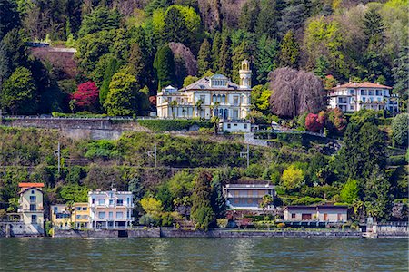 Scenic view of Lake Maggiore, Stresa, Piedmont, Italy Stock Photo - Rights-Managed, Code: 862-08273365