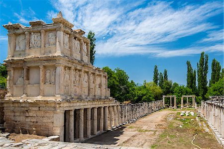 Sebasteion, a three storey high double colonnade decorated with friezes of Greek myths and imperial exploits, Aphrodisias, Aydin, Turkey Stock Photo - Rights-Managed, Code: 862-08273937