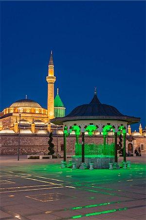 Night view of Mevlana Museum, Konya, Turkey Stock Photo - Rights-Managed, Code: 862-08273932