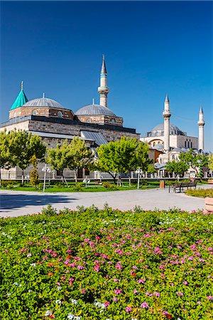Mevlana Museum, Konya, Turkey Stock Photo - Rights-Managed, Code: 862-08273933