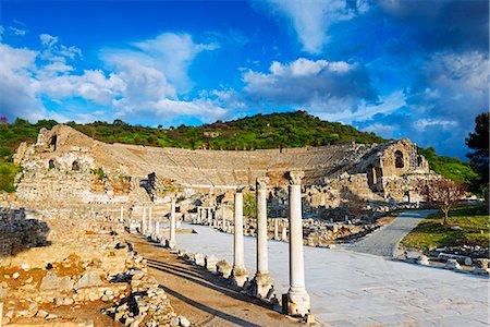Turkey, Aegean, Selcuk, Ephesus, ancient Roman ruins Stock Photo - Rights-Managed, Code: 862-08273957