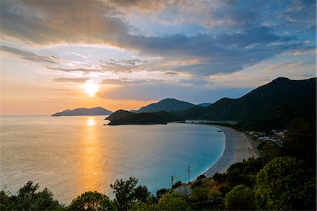 Turkey, Mediterranean, Aegean Turquoise coast, Oludeniz near Fethiye, Belcekiz beach Stock Photo - Rights-Managed, Code: 862-08273968