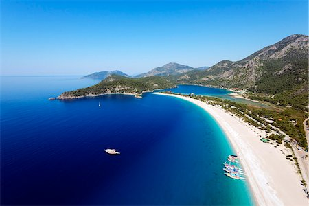 Turkey, Mediterranean, Aegean Turquoise coast, Oludeniz near Fethiye, Blue Lagoon & Belcekiz beach Stock Photo - Rights-Managed, Code: 862-08273970