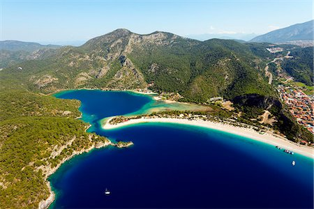 Turkey, Mediterranean, Aegean Turquoise coast, Oludeniz near Fethiye, Blue Lagoon & Belcekiz beach Stock Photo - Rights-Managed, Code: 862-08273971