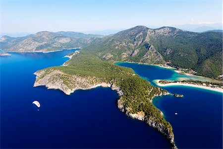 Turkey, Mediterranean, Aegean Turquoise coast, Oludeniz near Fethiye, Blue Lagoon & Belcekiz beach Stock Photo - Rights-Managed, Code: 862-08273972