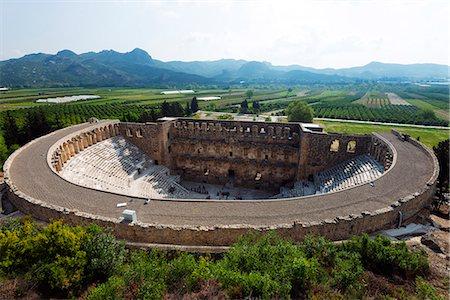 Turkey, Mediterranean Region, Turquoise Coast, Pamphylia, Aspendos 2nd century Roman theatre, built under Emperor Marcus Aurelius Stock Photo - Rights-Managed, Code: 862-08273997