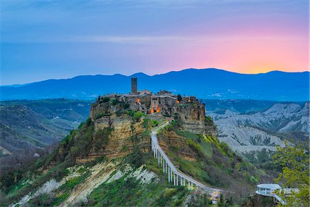 Civita di Bagnoregio, Viterbo, Lazio, Italy. The ancient medieval village of Civita also called 'the dying town'. Stock Photo - Rights-Managed, Code: 862-08699458