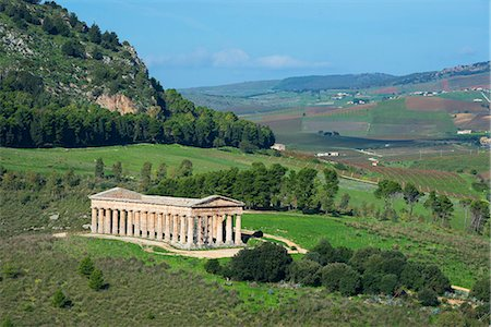 Segesta Temple, Segesta, Sicily Stock Photo - Rights-Managed, Code: 862-08699486