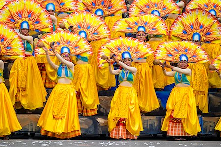 pictures philippine festivals philippines - Participants perfrom at Dinagyang Festival, Iloilo City, Western Visayas, Philippines Stock Photo - Rights-Managed, Code: 862-08699707