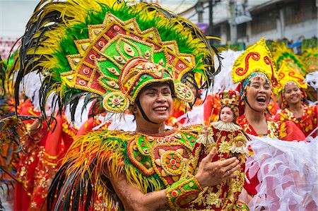 Dinagyang Festival, Iloilo Ctiy, Aklan, Western Visayas, Philippines Stock Photo - Rights-Managed, Code: 862-08699708