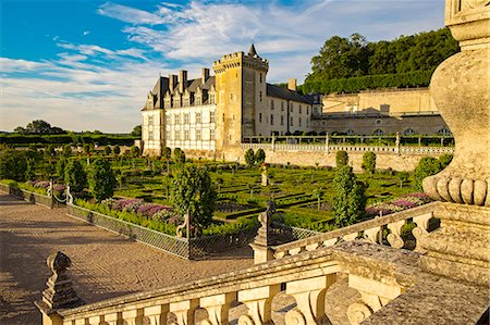 Chateau of Villandry gardens, Indre et Loire, Loire Valley, France, Europe Stock Photo - Rights-Managed, Code: 862-08718835