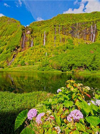 flores - Portugal, Azores, Flores, Fajazinha, Lagoa das Patas and Poco da Alagoinha. Stock Photo - Rights-Managed, Code: 862-08719355