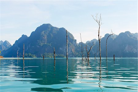 South East Asia, Thailand, Surat Thani province, Khao Sok National Park, Ratchaprapa reservoir Stock Photo - Rights-Managed, Code: 862-08719777
