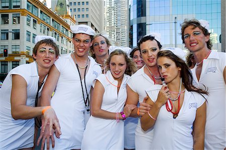 Participants in the annual Sydney Gay and Lesbian Mardi Gras Parade Stock Photo - Rights-Managed, Code: 862-03288888