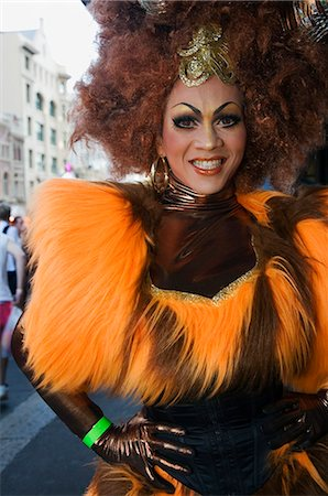 Participant in the Sydney Gay and Lesbian Mardi Gras Parade Stock Photo - Rights-Managed, Code: 862-03288893