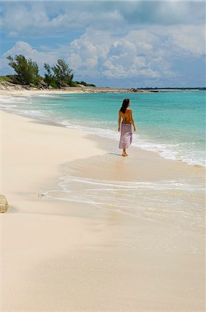 sandi model - The main beach at Little Whale Cay . . Stock Photo - Rights-Managed, Code: 862-03289347