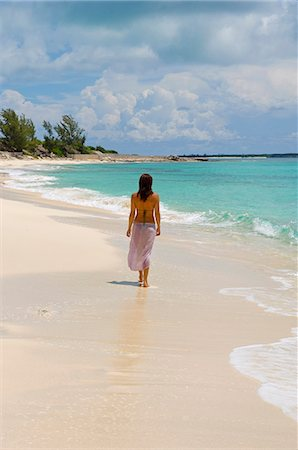 sandi model - The main beach at Little Whale Cay . . Stock Photo - Rights-Managed, Code: 862-03289348