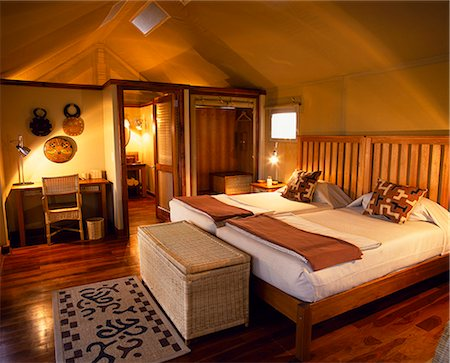 Interior of luxury tented bedroom,Chief's Camp,Chief's Island. Stock Photo - Rights-Managed, Code: 862-03289509