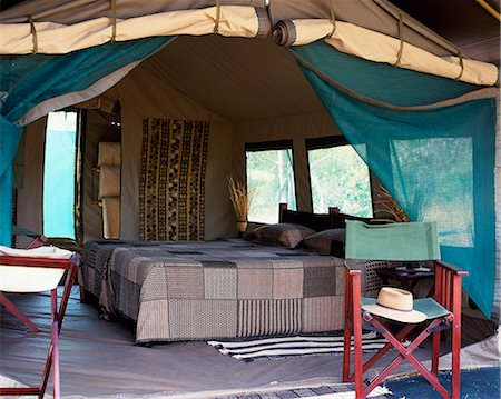 Luxury tent,Abercrombie & Kent mobile safari. Stock Photo - Rights-Managed, Code: 862-03289510