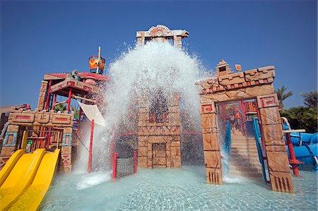 United Arab Emirates,Dubai,The Atlantis Palm Hotel. The 'Splashers Children Play Area' of Aquaventures Water Park. Stock Photo - Rights-Managed, Code: 862-03355361