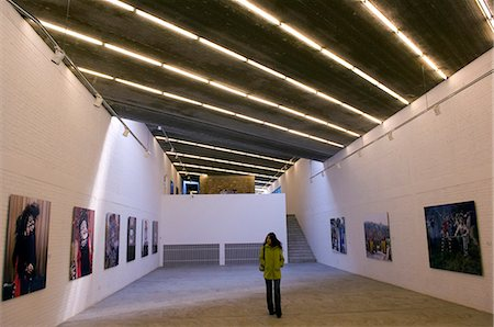exhibition - China,Beijing. An exhibition of Beijing Opera photographs at Three Shadows art gallery in Caochangdi art district. . Stock Photo - Rights-Managed, Code: 862-03351346