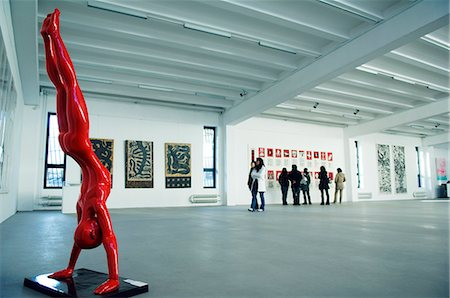 exhibition - China,Beijing. A gallery exhibition at Factory 798 Art district. Stock Photo - Rights-Managed, Code: 862-03351351