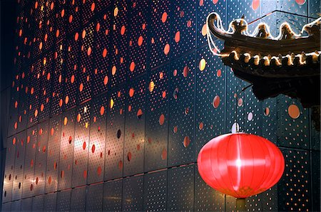 decoration pattern - China,Beijing. Chinese New Year Spring Festival - lantern decorations on a restaurant front. Stock Photo - Rights-Managed, Code: 862-03351519