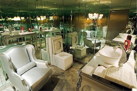 China,Beijing. A stylish restroom at Lan nightclub Stock Photo - Rights-Managed, Code: 862-03351818