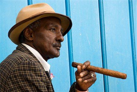 Cuba,Havana. Cuban man,Plaza de la Catedral,Havana Stock Photo - Rights-Managed, Code: 862-03352551