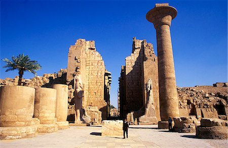 egyptian hieroglyphics - The massive columns of the Temple of Karnak Stock Photo - Rights-Managed, Code: 862-03352694