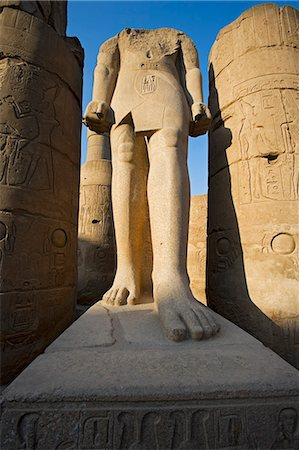 egyptian hieroglyphics - A headless statue of Ramses II at Luxor Temple,Egypt Stock Photo - Rights-Managed, Code: 862-03352798