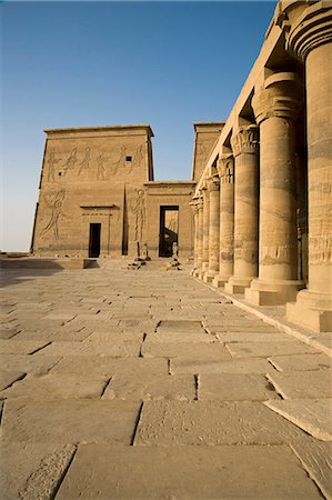 egyptian hieroglyphics - The Temple of Philae stands on an island in Lake Nasser and is a popular day trip from Aswan,Egypt Stock Photo - Rights-Managed, Code: 862-03352801
