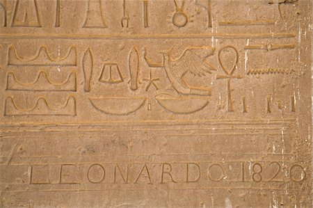 egyptian hieroglyphics - Hieroglyphs on the walls of the Ramesseum,Luxor,Egypt Stock Photo - Rights-Managed, Code: 862-03352913
