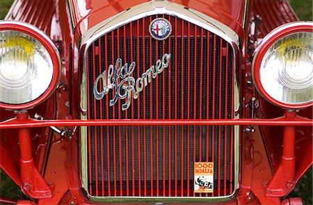 Alfa Romeo classic car Stock Photo - Rights-Managed, Code: 862-03353727