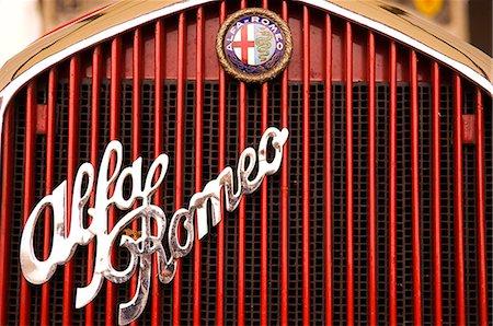 Alfa Romeo classic car Stock Photo - Rights-Managed, Code: 862-03353728
